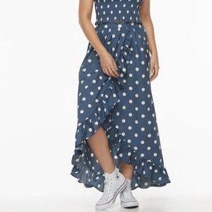 K/LAB Polka Dots XL Juniors Asymmetric Skirt NWT